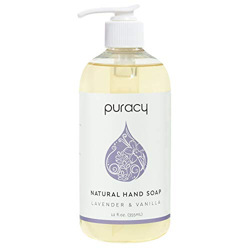 Puracy Natural Gel Hand Wash, Vegan, Hypoallergenic, All Skin Types, Lavender & Vanilla (Lavender & Vanilla, 12 Fl. Oz (Pack of 1)) (PHS12)