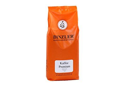 Dinzler Kaffeerösterei - Kaffee Premium - Kaffee | ganze Kaffeebohnen | kräftige Frühstückskaffee | wenig Säure | 1000g ganze Bohne | Ideal geeignet für Vollautomaten | Hervorragendes Aroma