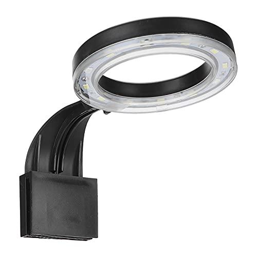 Zhjvihx Lampada LED per Acquario, Lampada per Acquario Clip Light ad Alta luminosità Impermeabile per Acquario per Acquario