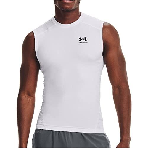 Under Armour UA HG Armour Comp SL, Camiseta para Hombre Hombre, White/Black, M