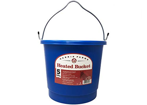 Harris Farms Heated Bucket for Horses, 5 Gallon