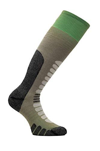 Eurosock Unisex 802433007331 Board Supreme Snowboarding Socks Snowboardsocken, Taupe/Säure, Medium
