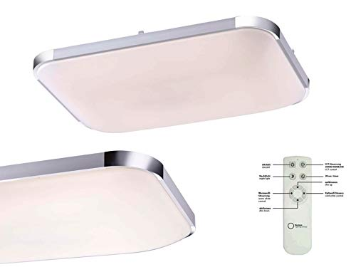 LED plafondlamp slaapkamer met afstandsbediening plafondlamp dimbaar vloerlamp nachtlicht dimmer (woonkamerlamp, 44 x 65 cm, 33,53 Watt, warm wit tot neutraal wit)