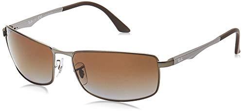 Ray-ban Mod. 3498 - Gafas de sol para hombre, color gris (matte gunmetal/grey gradient brown polar), talla 64