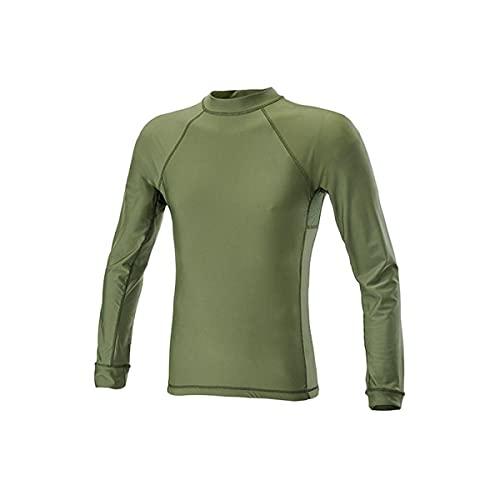 DEFCON 5 T-Shirt à Manches Longues avec Insert en Maille Filet, D5–1789 L OD Green