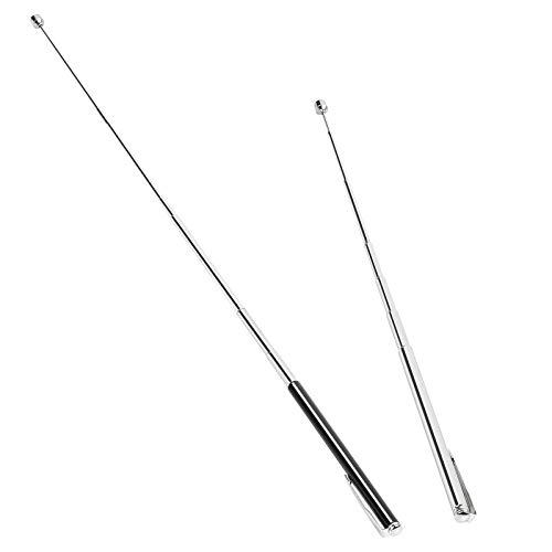 Telescópico Magnético CHIFOOM 2pcs Pick Up Tool,Extensible,que Se Extiende hasta 66 cm con Clip para Bolígrafo para Recoger Tornillos Tuercas Objetos de Metal (1LB, Negro,Plata)