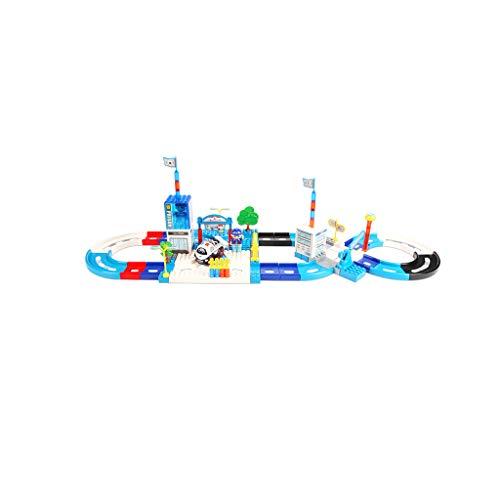 HXGL-Jouet wagon Voiture De Chemin De Fer Petit Jeu De Train Enfants Fille Électrique Puzzle Puzzle Garçon De 3 À 6 Ans (Taille : 78pcs)