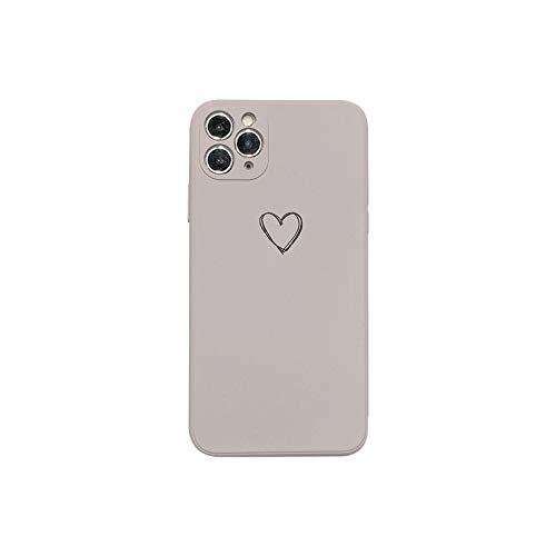 Funda líquida de silicona para iPhone 11 XR 7 8 Plus 11Pro XS Max lente cuadrada de protección de cámara para iPhone SE-Púrpura-Para 11 Pro