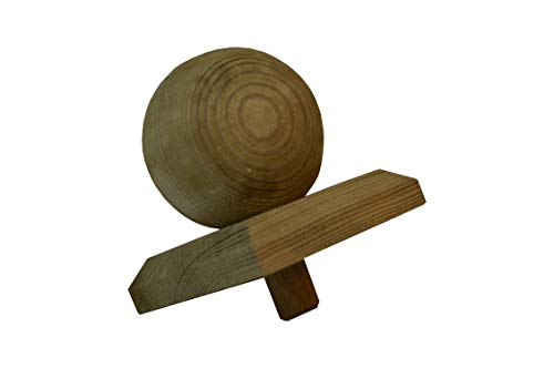 1 X Pfostenkappe Kugel Holz imprägniert 80X80mm für 70X70mm Pfosten 8X8cm > für 7X7cm Pfosten