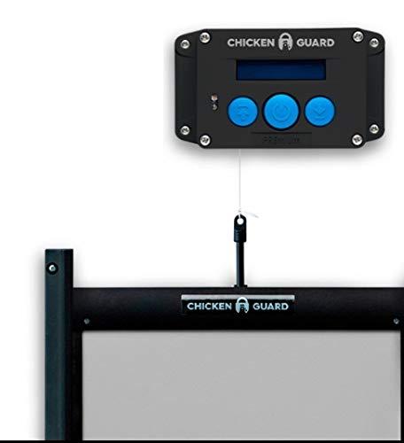 ChickenGuard Kit de apertura de puerta de gallinero automático ECO Premium y autobloqueo, resistente a los depredadores