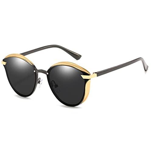 JSJE Gafas de Sol Hombres Mujeres- UV400 Protectores HD Lentes, Marco de Metal, Resistencia a la caída, Hombres y Mujeres Resistentes al Desgaste adecuados para IR de com Ae