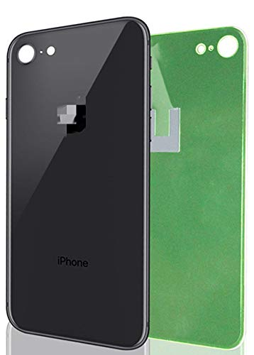 Apple iPhone 8 Replacement Back Glass Cover Back Battery Door w/Pre-Installed Adhesive,Best Version Apple iPhone 8 All Models OEM Replacement (Black)
