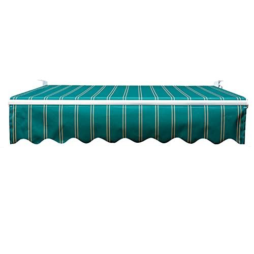 HBIAO Toldo Manual para jardín y Patio de 2,5 x 2 m, toldo para el Sol, Refugio Anti-UV e Impermeable, con Accesorios y manivela