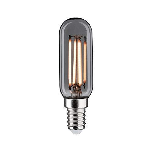 Paulmann 28609 LED Lampe Vintage Röhre 4 Watt Retro Leuchtmittel dimmbar Rauchglas Glas 2200 K Goldlicht E14