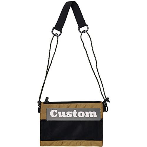 Nome personalizzato Piccolo Messenger Bag per i ragazzi Borsa Crossbody Strap Viaggio, Leone, Taglia unica,
