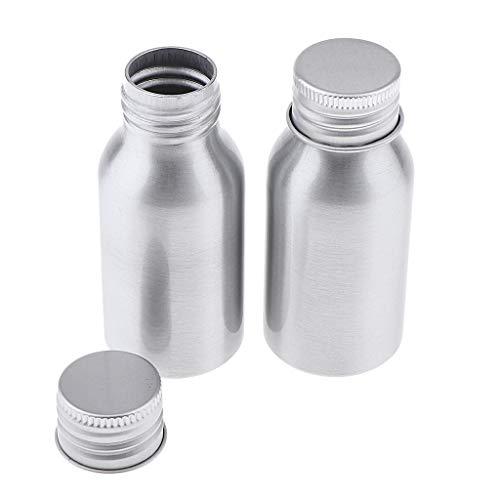 B Baosity 2 Unidades Botella de Bomba Dispensador 40ml de Aleación de Aluminio, Recipiente de Cosméticos Vacío para Champú, Gel de Ducha, Protector Solar