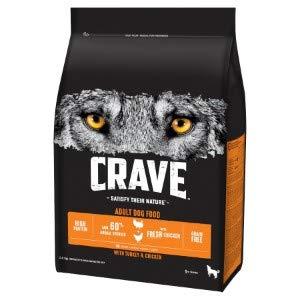 CRAVE Trockenfutter für Erwachsene mit Truthahn und Huhn 2,8 kg