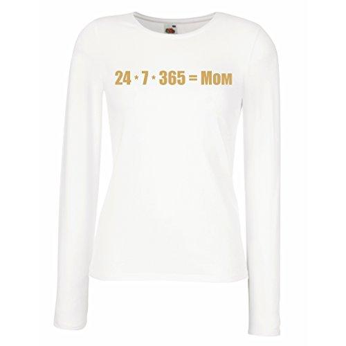Camisetas de Manga Larga para Mujer La Mejor mamá - Amor Usted Mensaje de la mamá - cumpleaños, día de Madres, Regalos del Aniversario