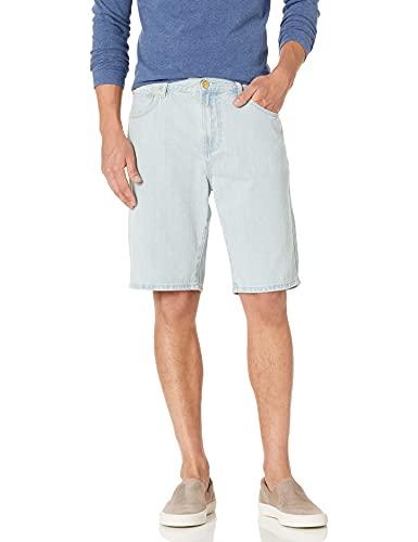 LRG Men's Choppa Cargo Jean Shorts, Denim Blue, 36