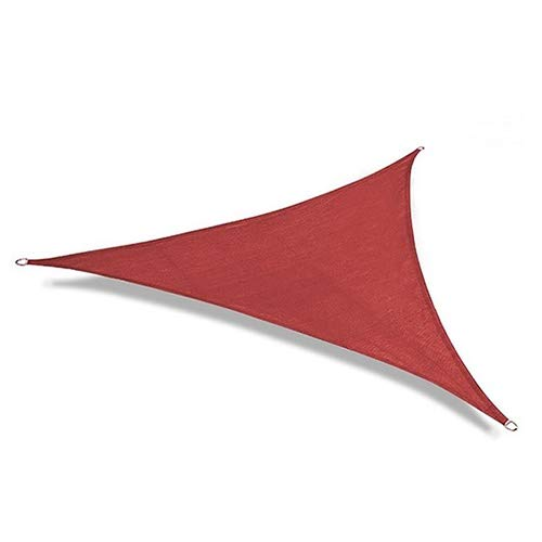 BAIYING Triángulo Curva Red De Sombra, HDPE Hidratante Protector Solar con Cordón Fácil De Desmontar Jardín Pabellón Pabellón De Vela Parasol (Color : Red, Size : 3X3X3M)