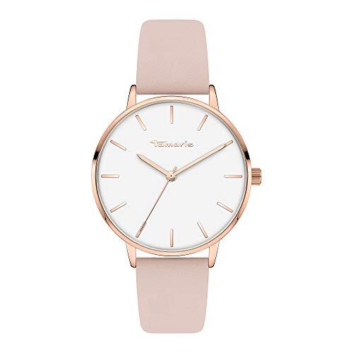 Tamaris Damen Analog Quarz Uhr mit Leder Armband TT-0006-LQ