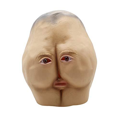 RZ Culo Divertido Personalizado Máscaras De Látex Halloween Adulto Danza Cabeza De Horror Bollos Decoración del Partido Divertido Máscara De Cara Completa