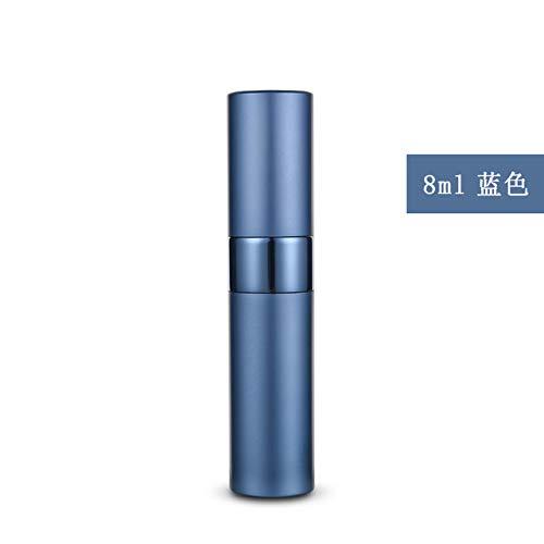 Bouteille de parfum en aluminium en aluminium bleu 8ml