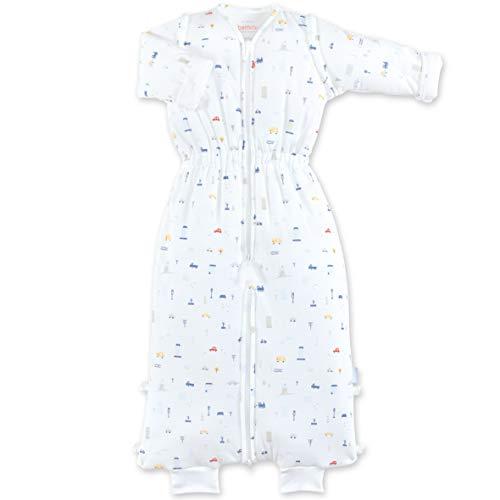 BEMINI Saco de dormir acolchado de 18-36 meses, diseño de 3 coches, color azul