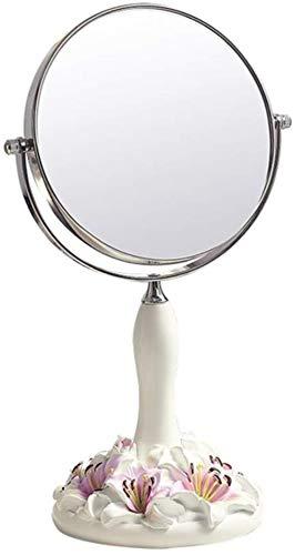 ZJ Tragen Make-up-Spiegel Desktop Mirror, tragbare Falten Kosmetikspiegel, doppelseitig Rasierspiegel Einfach (Color : Pink, Size : 30 * 12.5 cm)