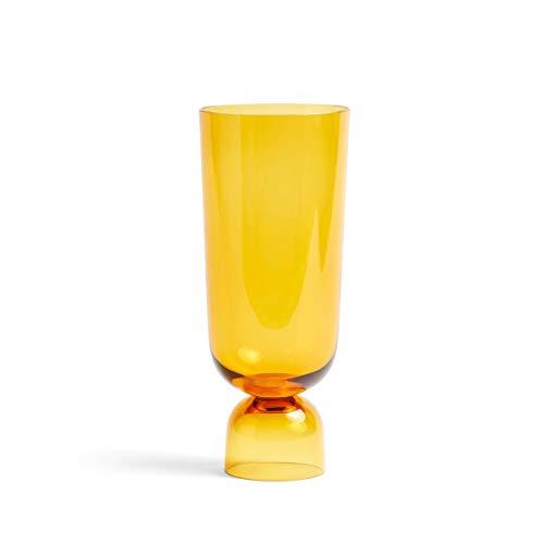 HAY - Bottoms Up Vase L, Ø 12 x H 29,5 cm, Amber