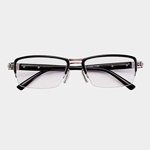 JJCFM Männer Progressive Multiple Fokus Ms Lesebrille, Anti-Blau Nah Und Fern Dual-Purpose Gläser, HD Auto-Zoom Mittleren Alters Und Ältere Leser,+2.50