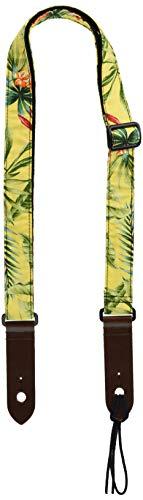 Daikingウクレレストラップ黄色い花柄日本製ひも付きでネックにも取り付け可能