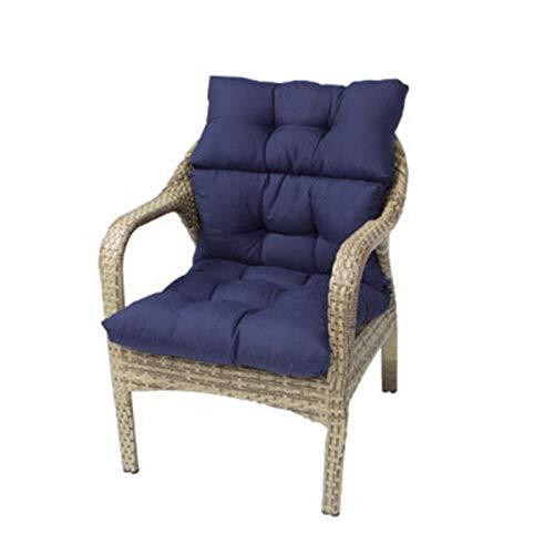 FCM Soft Home Lehnstuhl Kissen, haltbares Gewebe, Non-Skid Rücken, Superior Komfort und Weichheit, reduziert den Druck und Konturen Körper, Waschbar, L55cm W30cm (Color : Blue, Size : L55cm W30cm)