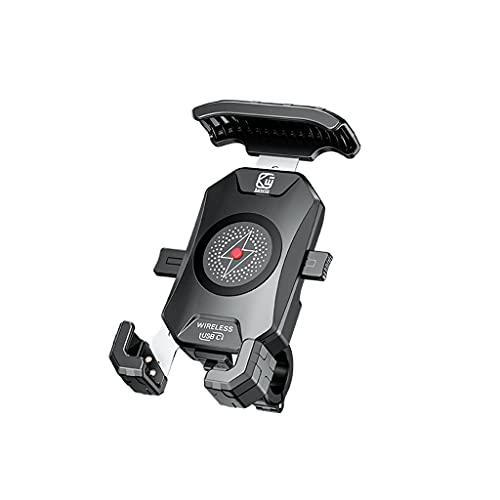 Impermeable 12 V motocicleta 20 W tipo C PD 15 W Qi cargador inalámbrico soporte teléfono móvil soporte para 3.5-6.5 pulgadas teléfono