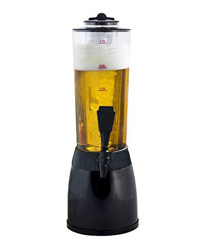 Gadgy ® Biersäule | 3,6 L. Bierspender Getränkespender Zapfsaule | Separates Kuhlelement | 53 cm. Hoch