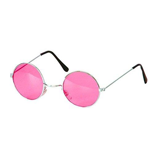 BestMall AC1090/FUSCHIA Brille im Hippie-Stil, Mehrfarbig, one Size