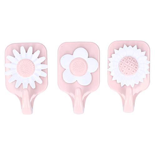 Ganchos adhesivos, paquete de 3 ganchos autoadhesivos, ganchos para colgar en forma de flor Colgadores de pared Gancho para toallas para cocina, baño, hogar