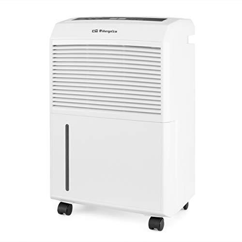 Orbegozo DH 3000 - Deshumidificador con capacidad deshumidificación 30L/día, refrigerante R290, depósito 5,8 L, área de aplicación 120 m2, sistema anti-congelación, 495 W