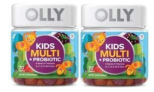 OLLY Kids Multi Vitamin Plus Probiotic Gummies Berry Flavor 70 Count (Pack of 2)
