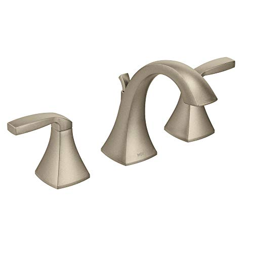 Moen T6905BN Voss Two-Handle 8 in. Widespread Bathroom Faucet Trim Kit, Valve Required, Brushed Nickel