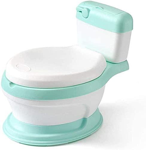 LXNQG King Tamaño de plástico Simulación Potty de los niños, Juguete para niños para niños, bebé para bebés Material de protección del Medio Ambiente para el Inodoro para bebés portátil (Color: Azul)