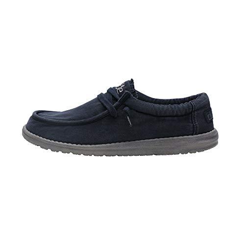 Dude Shoes Hombres Wally Lavado Marina De Guerra UK8 / EU42