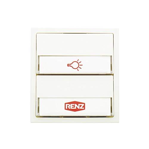RENZ Tastenmodul mit 1 Lichttaster + 1 Klingeltaster-Verkehrsweiß (RAL 9016) 97-9-85274