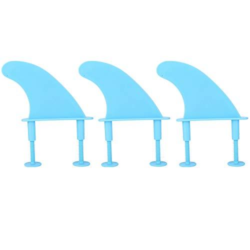 FOTABPYTI Blaue leichte praktische tragbare Surfbrettflossen, Kunststoff-Surfbrettflossen, Surfbrettliebhaber für das Surfen im Freien