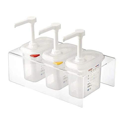 Araven CR823 - Dispensador de salsa (1,5 L, 3 unidades), transparente
