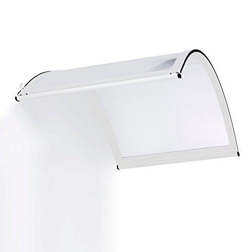 Preisvergleich Produktbild Schulte Vordach Überdachung Haustürvordach 160x90cm Polycarbonat-Hohlkammerplatte klar Aluminiumprofile weiß Rundbogenvordach