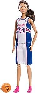 Barbie Fashionista Made To Move, muñeca jugadora de baloncesto con accesorios (Mattel FXP06)