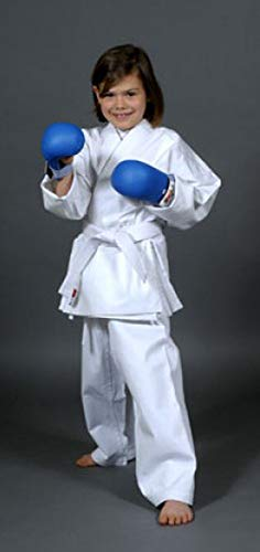 Asia Sports Karate Anzug Beginners, 8oz Drill, Elast. Bund, Gr. 140