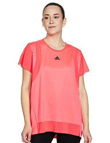 adidas TRNG tee H.RDY Camiseta, Mujer, Rossen, M