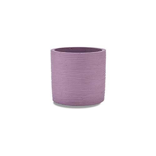 JSMY Pot de Fleur en béton Multicolore,Pot de Fleur de magasin de Fleurs de café Pots de plantes cylindriques,adaptés à toutes Les plantes d'intérieur 12 * 12 * 11.8CM ornements décoratifs